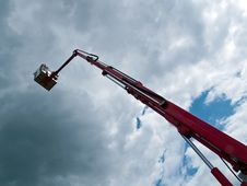 Free Rescue Firefighting Basket Crane Stock Photography - 10299712