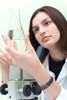 Free Scientist At The Laboratory Royalty Free Stock Photo - 10299785