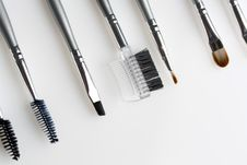 Cosmetic Brushes Royalty Free Stock Image