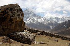 Free Himalayan Landscape (Amadablam) Stock Image - 10299911