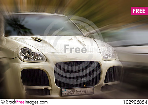 Free White Car. Stock Images - 102905854