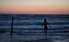 Free Beach, Clouds, Dawn, Evening, Stock Image - 102998051