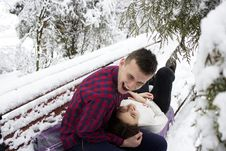 Free Bench, Cold, Couple, Daylight Royalty Free Stock Photography - 102998207