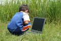 Free Laptop In The Grass Royalty Free Stock Images - 1033529