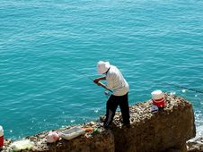 Free Fishing On Elaeen Elspoukna Royalty Free Stock Images - 1030239