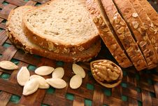 Free Cut Loaf Of White Bread Stock Image - 1030351