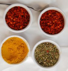 Free Four Spices Royalty Free Stock Images - 1030779