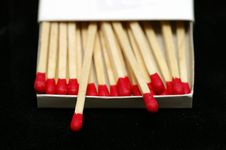 Free Red Tipped Wooden Match Sticks Stock Image - 1031291