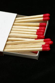 Free Red Tipped Wooden Match Sticks Stock Images - 1031314