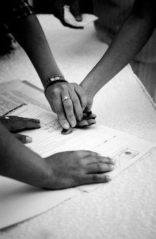 Free Finger Printing Stock Photography - 1031432