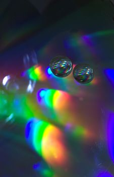 Free Drops On The CD-disk Stock Photo - 1031980