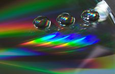 Free Drops On The CD-disk Royalty Free Stock Photo - 1032035