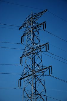 Free Electricity Pylon. Royalty Free Stock Images - 1032799