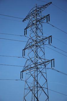 Free Electricity Pylon. Stock Image - 1032811