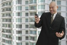 Free Businessman & Cellphone Stock Photography - 1032882