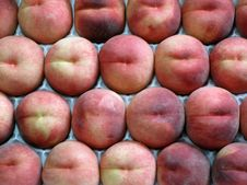 Peaches, Yellow Ones Royalty Free Stock Photo