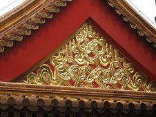 Free Architerctural Detail In The Forbidden City In Beijing Royalty Free Stock Image - 1033506