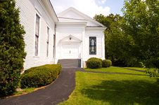 Country Church Side Entrance - 1 Royalty Free Stock Images
