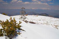 Free Geodesic Token On The Mountains. Royalty Free Stock Photos - 1035228