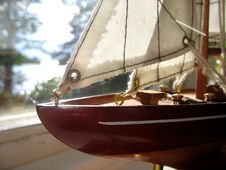Free Boat In A Window Royalty Free Stock Image - 1035536
