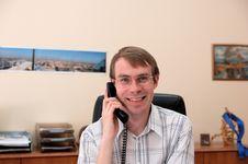 Free Businessman Talks On A Phone Stock Photography - 1036682