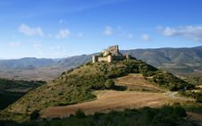 Free French Castle Aguilar Stock Image - 1037271