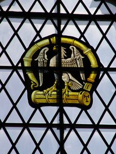 Free Stained Glass Insigniaof Eagle Stock Images - 1037924