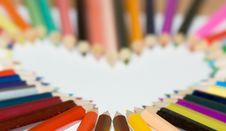 Free Pencil Heart Stock Image - 1038991