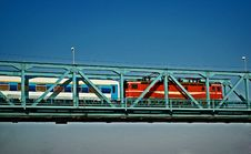 Free Train On The Bridge Stock Images - 1039454