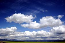 Free Clouds Over The Prairie Stock Image - 1039781