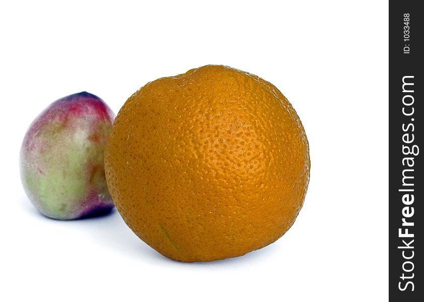 Oranges and plum