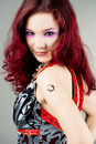 Free Bright Red Haired Girl With Kiss Royalty Free Stock Photo - 10307685