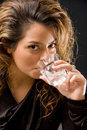 Free Attractive Feminin Drinking Wine Stock Images - 10308924