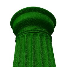 3d Illustration Of A Green Column Stock Image