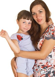 Free Mum With A Daughter Stock Image - 10300821