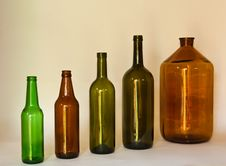 Free Row Of Glass Bottles Stock Image - 10300861