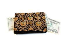 Free Woman S Purse And Dollars Isolated Stock Photography - 10301412