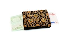 Free Woman S Purse And Euro Bills Isolated Royalty Free Stock Photo - 10301415