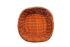 Free Brown Wicker Basket Top View Isolated Stock Image - 10301431