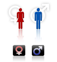 Free Human Gender Symbols Royalty Free Stock Image - 10302676