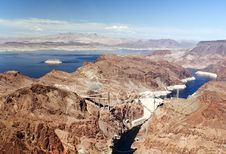 Hoover Dam, Colorado River And Lake Powell Royalty Free Stock Photos