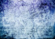 Free Grunge Background Blue Royalty Free Stock Photography - 10303567