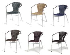 Free Six Cafe Chairs Royalty Free Stock Photography - 10303687