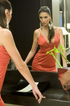 Beautiful Woman With Fashion Make-up Royalty Free Stock Image
