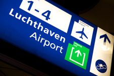 Free Airport Sign To Departure Gates. Royalty Free Stock Photography - 10304607