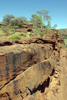 Escarpment In The Palm Valley, Australia Stock Photo