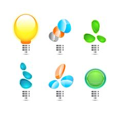 Free Abstract Light Bulb Shapes Royalty Free Stock Images - 10305939