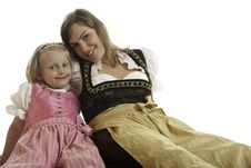Free Bavarian Mother And Child In Dirndl Stock Photo - 10306270