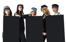 Stylish Students Royalty Free Stock Photo