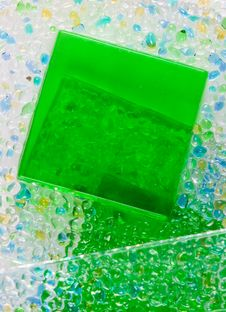 Green Glass Square Royalty Free Stock Photo